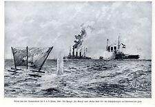 Panzer St.Georg u. Kaiser Karl VI. *  Seemanöver der k.u.k.Flotte Druck von 1908