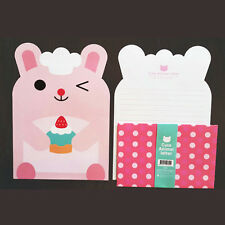 Cute Pink Rabbit Animals Letter set - 4sh Writing Stationery Paper 2sh Envelope