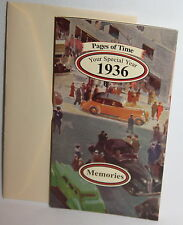 NEW Pages of Time - Your Special Year 1936 - Birthday - Greeting Card