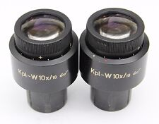 Zeiss KPL W 10x 18 Glasses Microscope Eyepieces