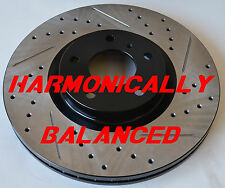 Fits 350Z 06-08 Drilled Slotted Rotors Harmonically Balanced Front Pair