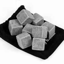 9pcs Whiskey Whisky Scotch Soapstone Ice Cubes Glacier Stones Rocks Regalo