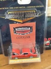 1 NEW 1/64 SCALE AMERICAN MUSCLE 1969 COUGAR ELIMINATOR  LIMITED EDITION  #32348