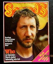 Sounds 07/79 Cover: Pete Townshend, J. Geils Band, 1. Allgemeine Verunsicherung
