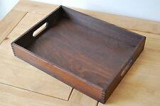 Plain Wood - Wooden Serving Tray 40cmx30cmx 6.5cm in Brown Colour