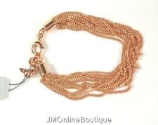 Fossil JOA00320791 Womens Rose Gold Multi (9) Twist Strands Chains Bracelet NEW!