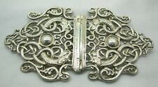 Edwardian Large heavy Solid Silver Ornate Buckle