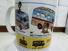 300ml COFFEE MUG, DINKY TOYS NO'S 988, 987 ABC TV TRANSMITTER, CONTROL ROOM VANS