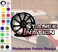 Stance Nation Felge Aufkleber Sticker JDM OEM Like Bitch Felge Tief