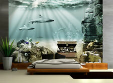 Tapete Unterwasser Schatz Nr.20 Größe:400x280 cm Fische Kinder Fototapete Hai