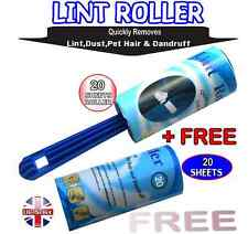 20 SHEETS ROLLER +20 SHEETS FREE ,  PET,DOG,CAT,HAIR,DUST,FLUFF,DANDRUFF REMOVER