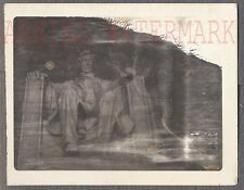 Unusual Vintage Bad Polaroid Photo Art Lincoln's Ghost Memorial 687782