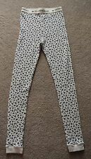 Victoria's Secret 100% Cotton Thermal Pants Size Medium, Blue/Cream