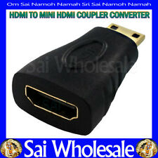Gold Hdmi Female To Mini Male Type A-C Adapter Connector Converter Plug Coupler