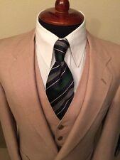 Vintage Christian Dior Men's 3pc Suit Beige Color Single Vent.
