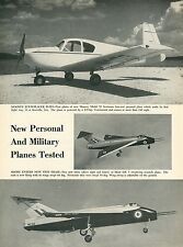 1953 Aviation Article Mooney Model 20 Scotsman + Short S.B. 5 Sweptwing Tests
