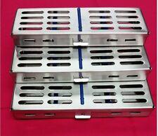 LOT OF 3 STERILIZATION CASSETTE Surgical DENTAL,MEDICAL LAB.Instrument (5,7&10)