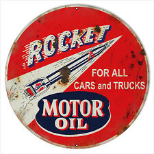Reproduction Rocket Motor Oil Sign 18 Round