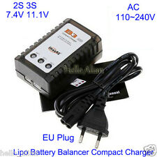 AC 220V 230V iMax B3 2S 3S 7.4V 11.1V Lipo Battery Cell Balancer Charger