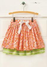 NWT MATILDA JANE Hello Lovely VALENCIA Skirt Orange Floral Double Layered 10