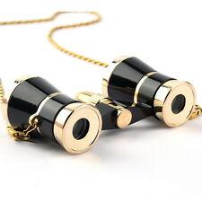 Black Binoculars Opera Theatre 3X25 Glasses Telescope Optics With Chain OK