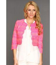 NWT Lilly Pulitzer Women's Wonda Neon Pink Metallic Boucle Jacket Size 00