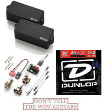 EMG P6 BASS BLACK 6 STRING FENDER REPLACEMENT P BASS PICKUP (FREE DUNLOP STRING)