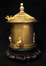 South Chinese Ormolu Lidded Casket Jar as Bird House - Exceptional & Fine