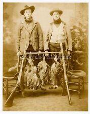 ANTIQUE REPRO 8X10 PHOTOGRAPH   RUFFED GROUSE HUNTER'S DOUBLE BARREL SHOTGUNS