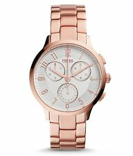 Fossil 34mm Abilene Rose Gold-Tone Chronograph Ladies Watch CH3018 BRAND NEW!