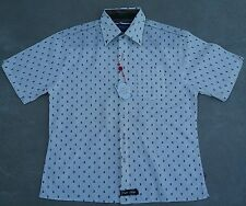 New English Laundry Men's Vintage Elegant Arrogant Embroidered Shirt NWT XL