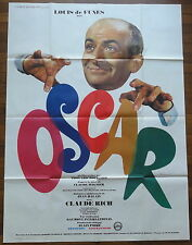 Ancienne Affiche Cinéma OSCAR. Louis de FUNES. Cinema Movie Poster.