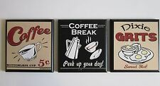 Coffee & Dixie Grits Wall Decor Plaques country kitchen pictures signs
