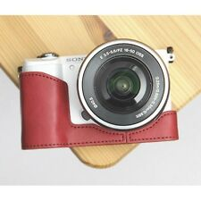 Ciesta Synthetic Leather Half Case Sony A5000 Burgundy Red