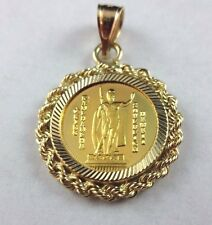 VERY RARE 1993 Hawaii Sovereign Kala Mo'i 1/20 .9999 Gold Coin 14k Bezel Pendant
