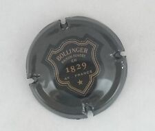 capsule champagne BOLLINGER 1829 n°42 anthracite verso or