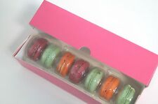 glossy pink Macaron/Eclair box holds 7 macaron  (Pack of 20)