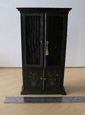 Dollhouse Miniature Artisan Black Chinese Cabinet 1:12