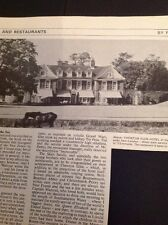 Ephemera 1968 Restaurant Review Chewton Glen Hotel New Milton M486