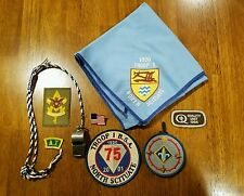 Boy Scout whistle and lanyard ,Boy Scout patches and neckerchief, Rhode Island