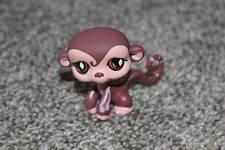 Littlest Pet Shop Brown Monkey #745 Diamond Eyes LPS Toy Safari Animal RARE HTF