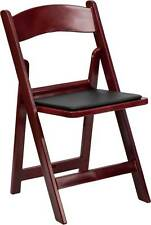 HERCULES SERIES 1000 LB. CAPACITY RED MAHOGANY RESIN FOLDING CHAIR WITH BLACK VI