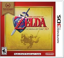 NEW The Legend of Zelda: Ocarina of Time 3D  (Nintendo 3DS, 2011) Selects Cover