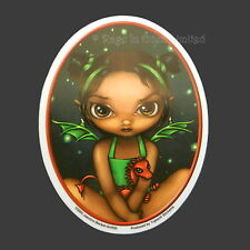 GREEN DRAGONLING Fairy Sticker Jasmine Becket-Griffith