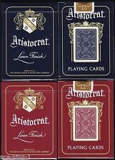 6 DECKS ARISTOCRAT BANK NOTE 727 BLUE & RED PLAYING CARDS BY THEORY11 NEW