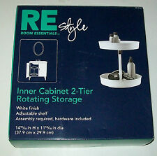 RE INNER CABINET 2-TIER ROTATING STORAGE SHELF. NEW IN BOX