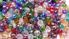 30-35 Faceted Rondelle Crystal Glass Beads CHOOSE FROM 15 COLOURS 10mm, 12mm FPP