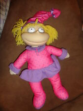 Doll Rugrats Angelica Hot Pink PJs with Purple Hearts Pajamas 1997 stuffed vinyl