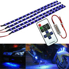 "12V Wireless Remote Control SUV Car 12"" 30CM Blue 15LED Lighting Strip Kit Light"