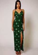 Dress 18 BNWT Virgos Lounge Embellished Green Wedding Bridesmaids Prom Maxi £230